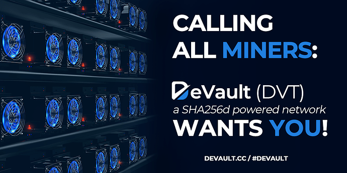 Calling all Miners - DVT!